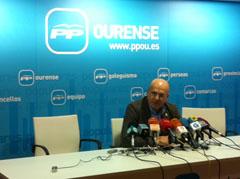 Manuel Baltar compareció ante los medios tras su elección.