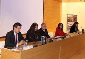 Francisco Sieiro, Carolina García, Gerardo Fernández Albor y Pilar Pin en la presentación del libro.