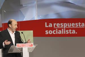 Intervención de Pérez Rubalcaba, nuevo secretario general del PSOE.