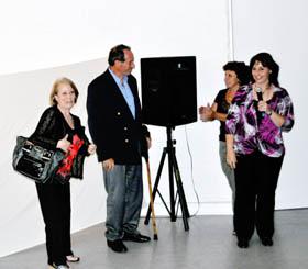 Los cuatro protagonistas del acto.