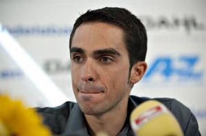 El ciclista Alberto Contador.