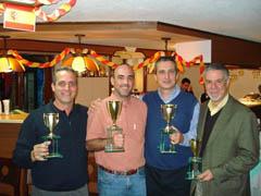 José María Álvarez, Francisco Presa, Juan Carlos Ros y Juan Luz.