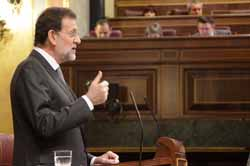 Rajoy en su intervención ante el Congreso de los Diputados.
