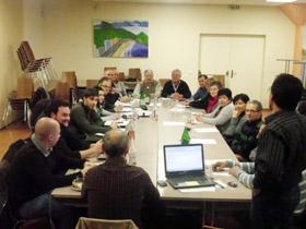 Un momento de la reunión del pasado 5 de febrero.