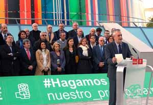 José Antonio Griñán avanzó aspectos del programa electoral.