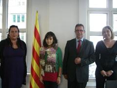 Enriqueta Castelló (i), Jordi Bayona y Pepi González.