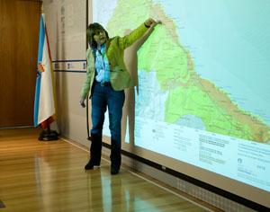 La conselleira do Medio Rural e do Mar, Rosa Quintana, explica el Plan.