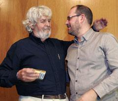 Xosé Manuel Beiras con Martiño Noriega.