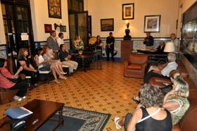 Un momento del acto celebrado en el Centro Gallego de Montevideo.