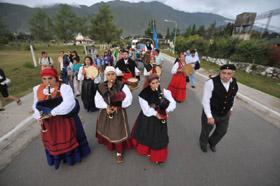 Imagen de la procesión en la localidad El Mollar, en la región de Tucumán.