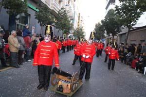 El desfile por las calles de la ciudad.