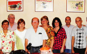 Algunos de los miembros de la directiva.
