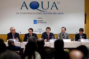 Alberto Núñez Feijóo durante la inauguración de Aqua 2012.