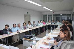 Una de las sesiones de trabajo de las jornadas organizadas por la Coordinadora.