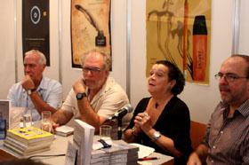 Raúl Duque, Ramón Molina, Marta Egusquiza y Aurelio Francos en la presentación.