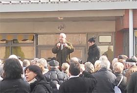 Intervención de Antonio Aliaga en la concentración celebrada el pasado domingo 26 de febrero.