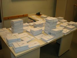 Votos enviados por correo al Consulado en Argentina en las pasadas elecciones generales.
