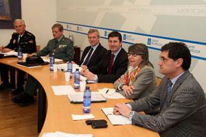 Alfo Rueda, Samuel Juárez y Rosa Quintana en la reunión.