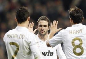 Higuaín logró dos goles y fue uno de los jugadores del Real Madrid más destacados.