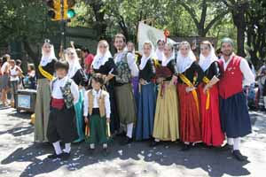 Los mallorquines en la Fiesta de la Vendimia.