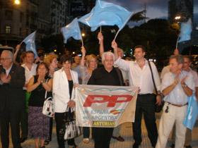 Afiliados y simpatizantes se reunieron para apoyar a los candidatos del PP.