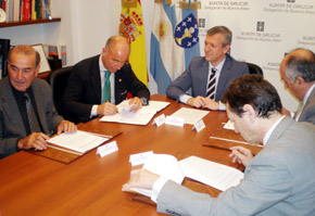La firma de los convenios tuvo lugar en la sede de la Delegación de la Xunta en Buenos Aires.