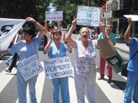 Los médicos ya se manifestaron ante la sede del Hospital del Centro Gallego el pasado 1 de febrero.