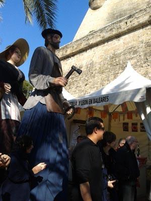 Caseta de la entidad en el Mercado Medieval.