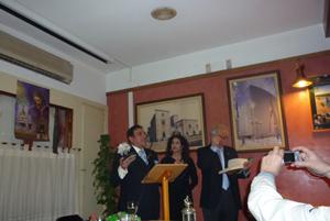 Presentado por el presidente de la Casa, Gonzalo Martín, Joaquín Bravo Cruz leyó el pregón.