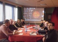 Los representantes de los centros gallegos en Suiza reunidos en Ginebra el pasado domingo 11 de marzo.