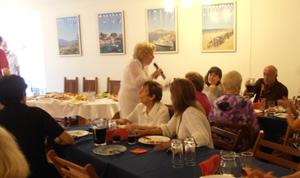 Olga Soto actuó en el encuentro.