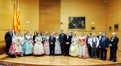Un momento de la recepción en la Diputación valenciana.