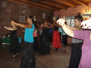 Una de las clases de flamenco.