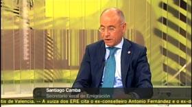 Santiago Camba en el programa 'Bos Días' de la Televisión de Galicia.