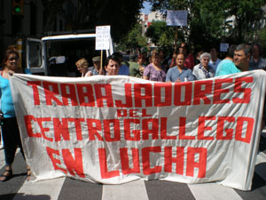 Los trabajadores del Centro piden una solución a la grave crisis que padece la entidad.