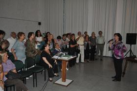 La presidenta del Patronato, María Lorenzo, en un acto de la entidad.