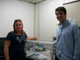 La urna en el Consulado de España en la capital mexicana.