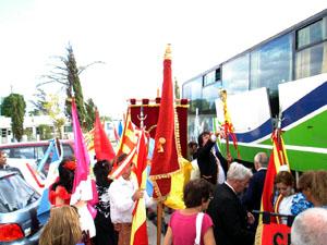 Llegada de las delegaciones españolas.