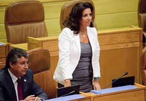 Marta Rodríguez-Vispo fue la diputada que intervino por el PP en el pleno del Parlamento.