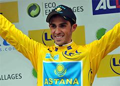 El ciclista español Alberto Contador, actual ganador del Tour de Francia.