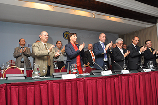 Clausura del 9º Pleno del Consello de Comunidades Galegas.