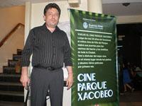 Fabián Pérez es el gerente del Cine Parque Xacobeo.
