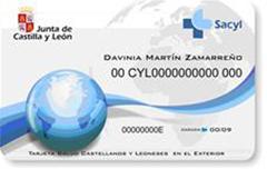 Modelo de la Tarjeta Salud Castellanos y Leoneses en el Exterior.