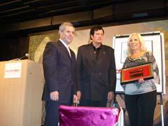 Carlos Santos Valle, Eloy Pousa Arias y María González García.