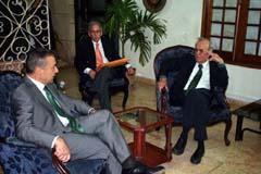 Paulino Rivero y Ricardo Alarcón.