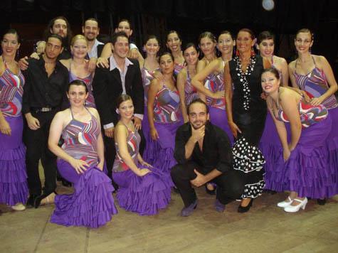 El Ballet Al Andalus del Centro participó en el espectáculo.