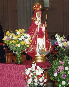 Imagen de la Virgen de la Candelaria.