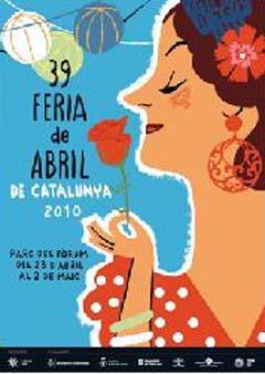 Cartel de la 39 Feria de Abril en Catalunya.