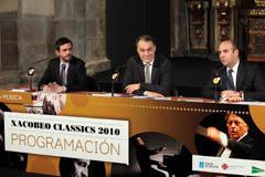 Ignacio Santos, Roberto Varela y César Wonenburger en la presentación de Xacobeo Classics.