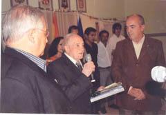 Juan Pérez Sáez agradece la distincion del Rotary Club Comodoro Rivadavia.